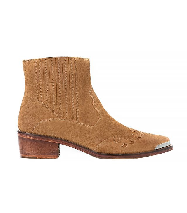 Mango Far West Suede Ankle Boots