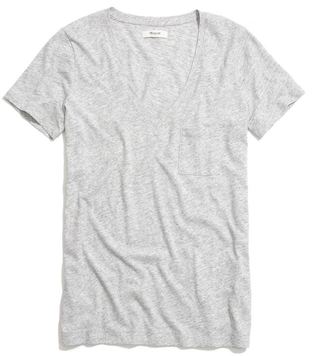 Madewell Slub V-Neck Pocket Tee