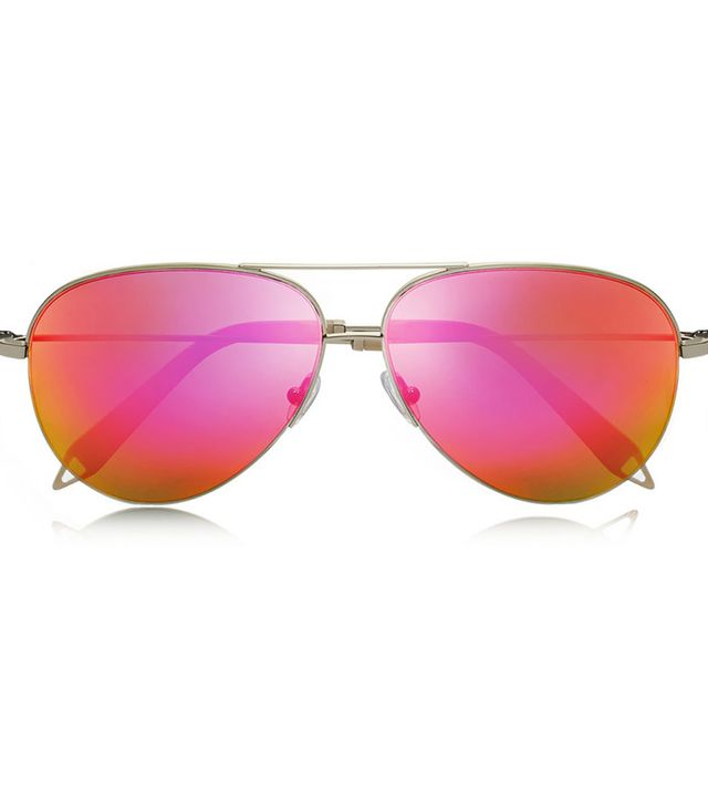 Victoria Beckham Aviator-Style Mirrored Sunglasses