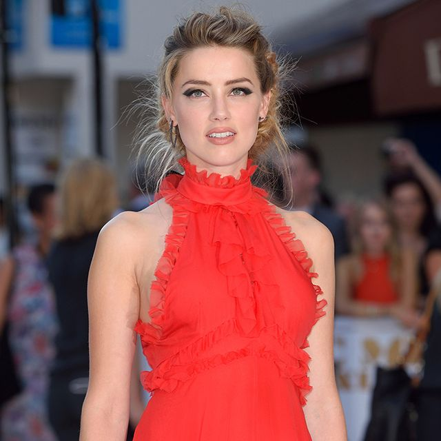 Wait Until You See the Back of Amber Heard's Stunning Dress