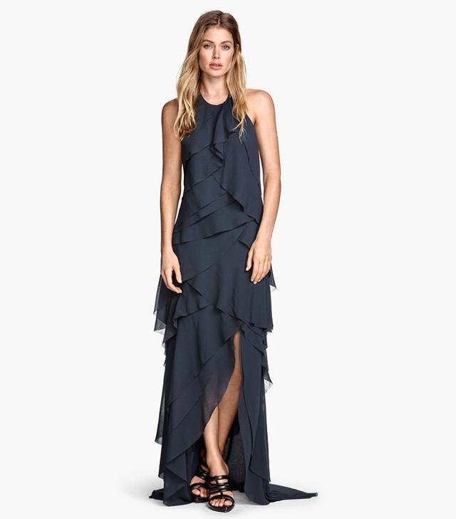 H&M Tiered Chiffon Dress