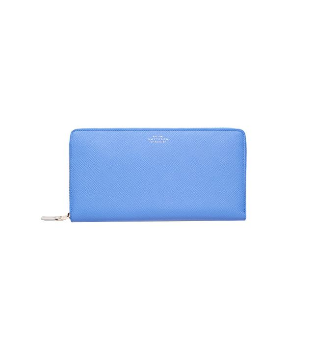 Smythson Panama Men Collection Zipped Travel Wallet