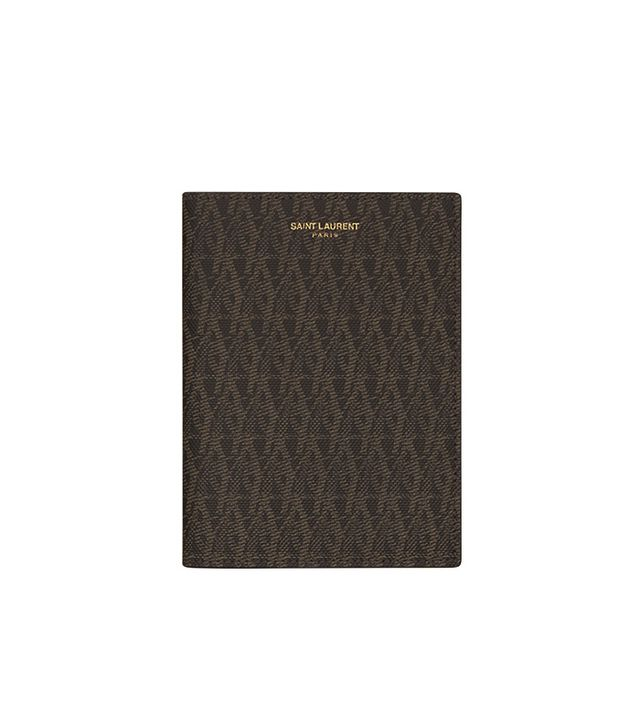 Saint Laurent CLASSIC TOILE MONOGRAM PASSPORT Case