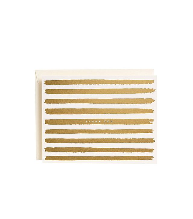 Paper Source Gold Stripes Thank You Notes