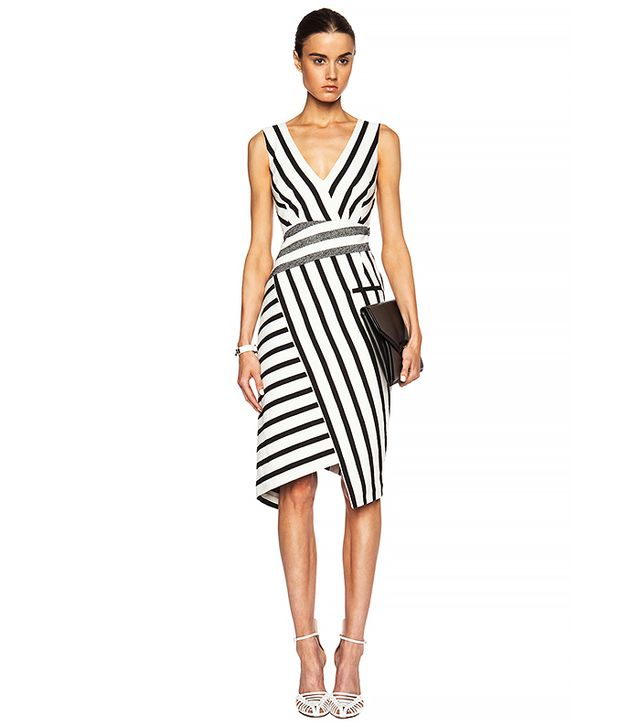 Altuzarra Jessica Mixed-Stripe Sheath