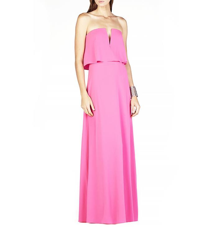BCBG Max Azria Alyse Strapless Overlay Gown