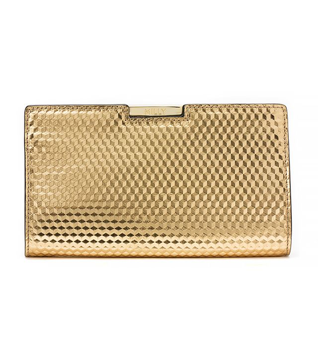 Milly Geo Frame Clutch in Gold