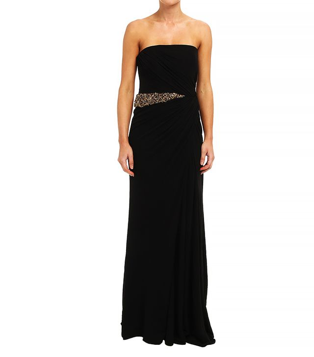 Badgley Mischka Solid Draped Jersey Dress