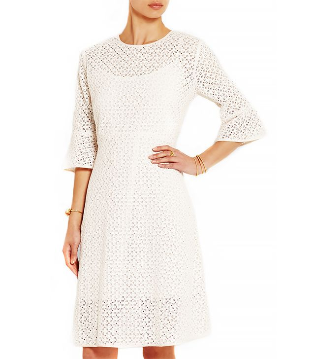 Needle & Thread Geo Crocheted Cotton-Lace Dress