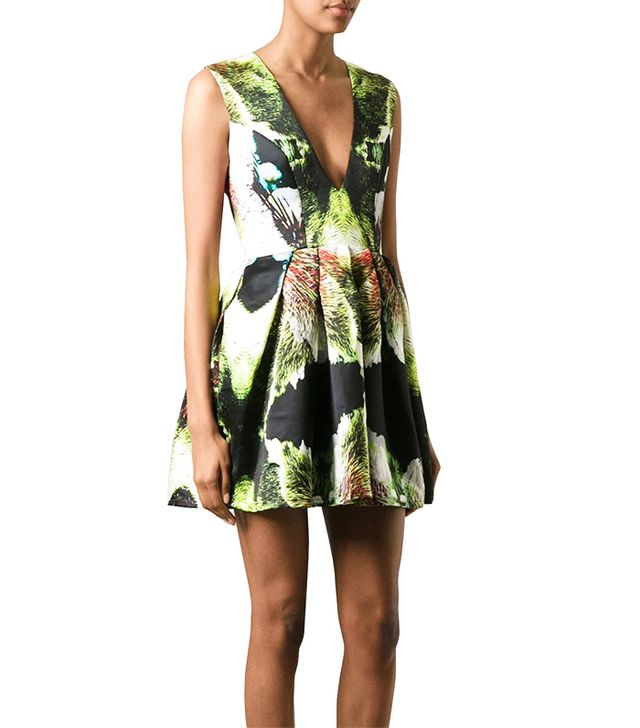 Jorge Ayala Paris Abstract Print Skater Dress