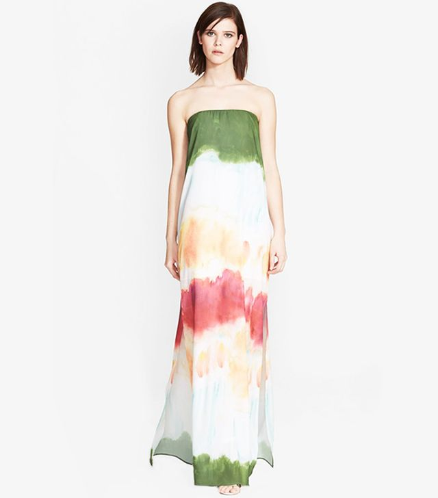 Alice + Olivia Yulissa Print Chiffon Maxi Dress