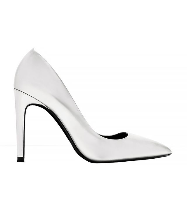 Zara Laminated High Heel Court Shoe