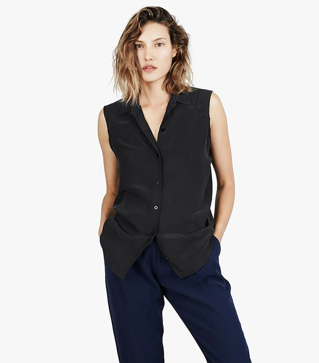 Everlane The Silk Sleeveless Shirt