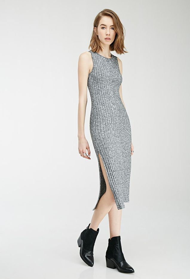 Forever 21 Marled Side-Slit Dress