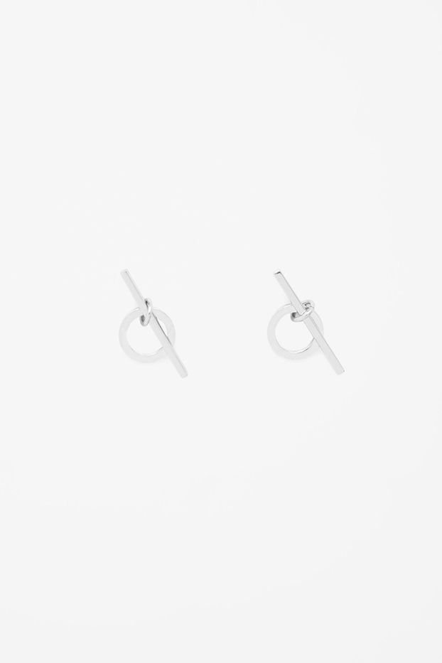 COS Circle and Bar Earrings