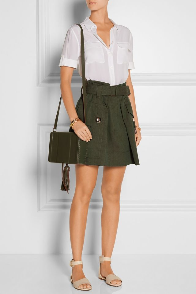 Marc Jacobs Wool-Gabardine Mini Skirt