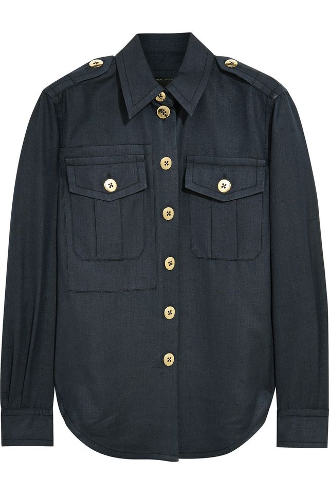 Marc Jacobs Silk-Shantung Shirt