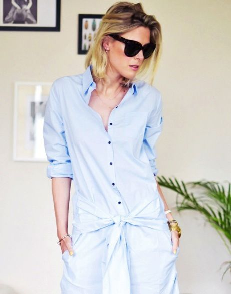 See This Blogger's Casual Chic Take on the Shirtdress