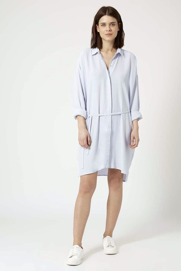 Topshop Self-Tie Shirt Dress