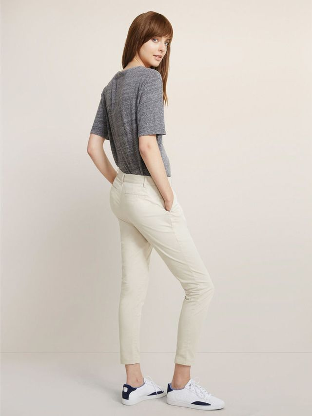 ED Classic Stretch Cotton Pant in Khaki