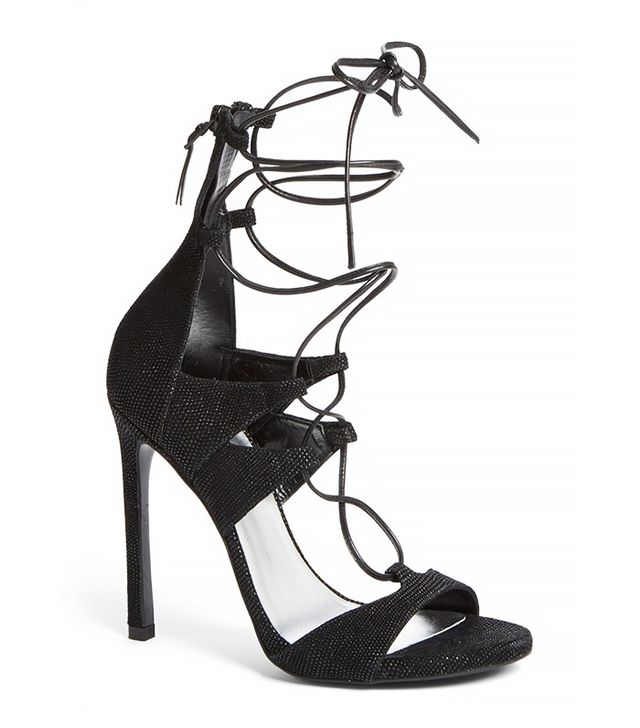 Stuart Weitzman Leg Wrap High Dress Sandal