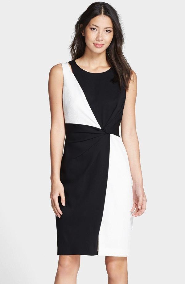 Ellen Tracy Colorblock Sheath Dress