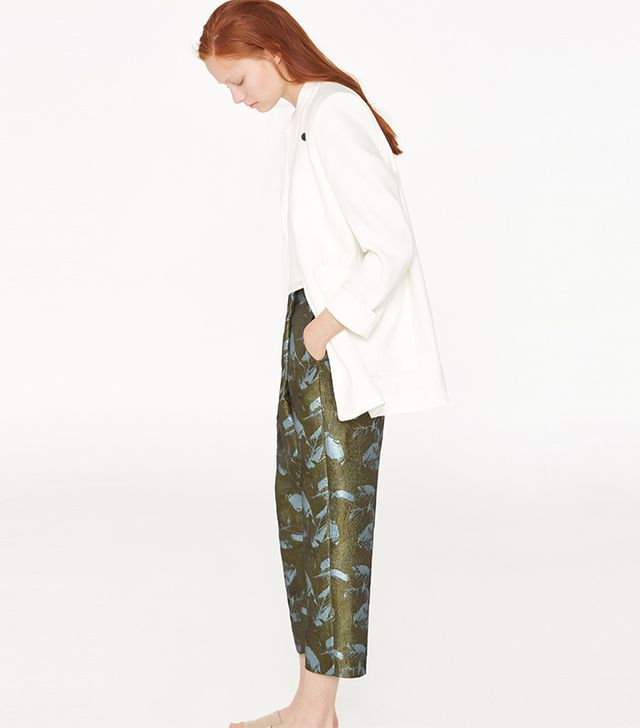 Mango Floral Wrap Trousers