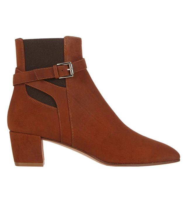Gianvito Rossi Buckle-Strap Ankle Booties