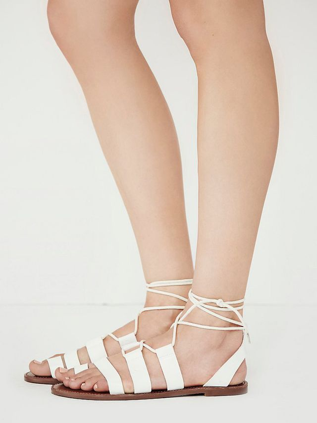 Faryl Robin + Free People Vegan Maddie Tie Up Sandals