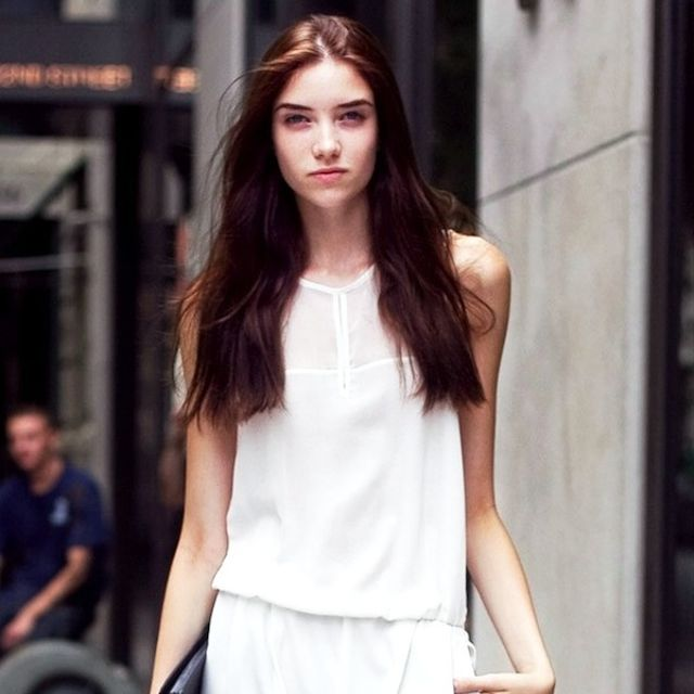 Model-Off-Duty Style: Steal Grace Hartzel's Casual White Jumpsuit Look