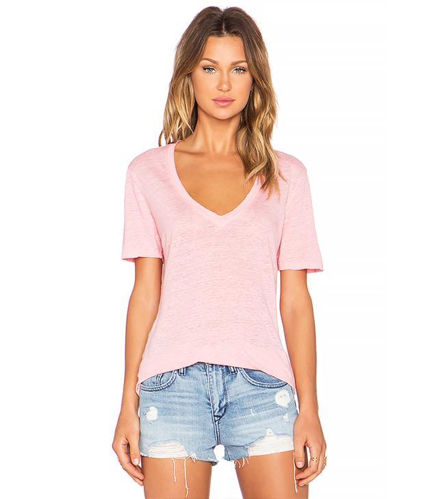 Monrow Oversized Linen T-Shirt