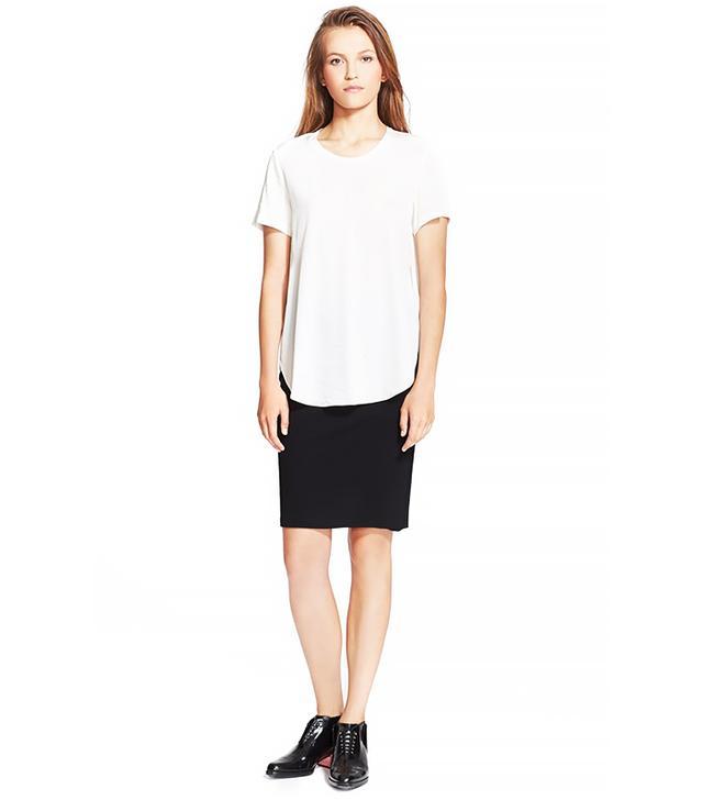 3.1 Phillip Lim Overlapping Side Seam Silk Shirt