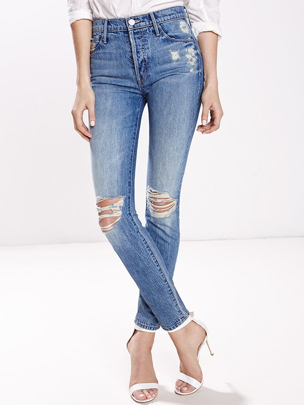 Candice Swanepoel + Mother Stunner Jeans