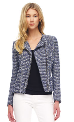 MICHAEL Michael Kors Tweed Motorcycle Jacket