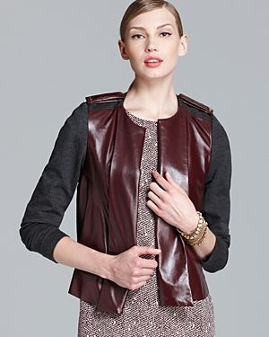 Rachel Roy Leather Mix Jacket