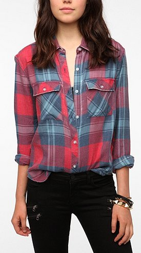 byCORPUS Burnout Plaid Shirt
