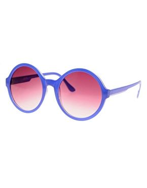 ASOS Blue Round Sunglasses