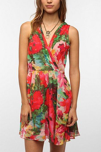 Jack by BB Dakota Cherry Chiffon Dress