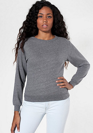 American Apparel French Terry Drop-Shoulder Sweatshirt