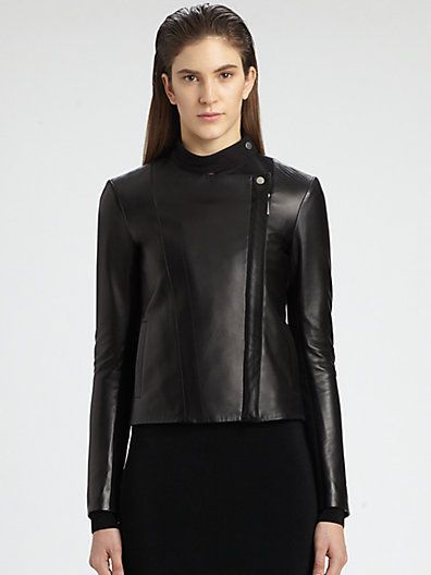 The Row Brilly Leather Moto Jacket