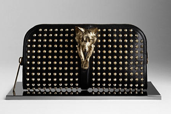 Burberry Country Animal Studded Clutch Bag