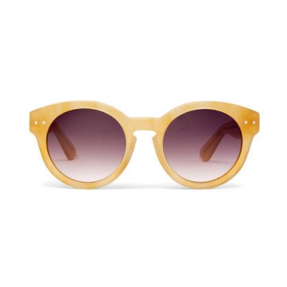 Madewell Hepcat Shades in Milky Apricot