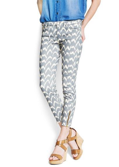 Mango Ikat Print Trousers