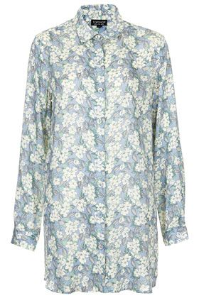 Topshop Washed Floral Nightshirt