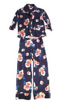 Sophia Graydon Silk Floral Pajama Top and Bottom