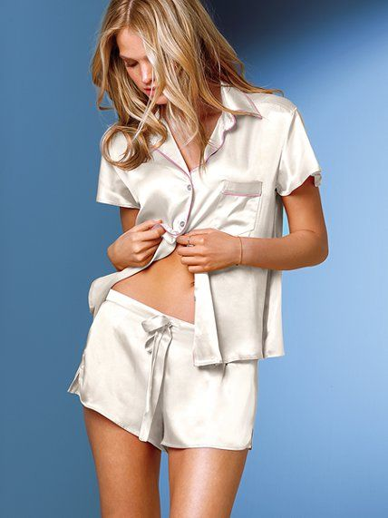 Victoria's Secret Satin Boxer Pajama Set
