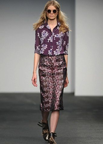 House of Holland House of Holland Jacquard Floral Pencil Skirt