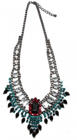 t+j Designs t+j Designs Luxe Artsy Gem Bib Necklace