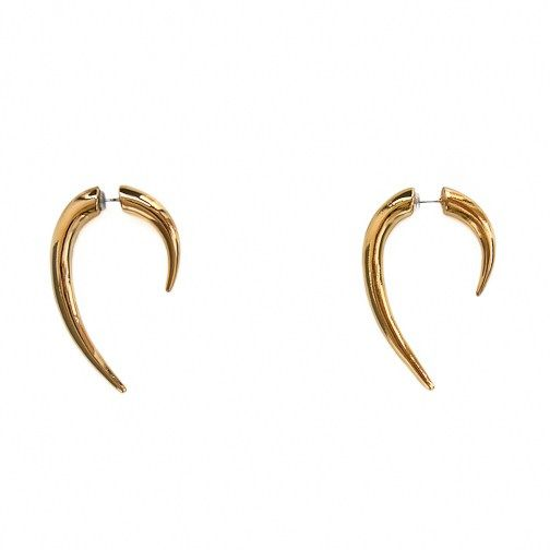 nOir Smooth Hook Earrings