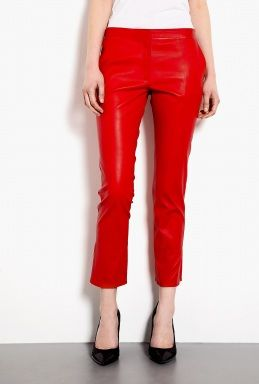 Vanessa Bruno Leather Tailored Cropped Trousers